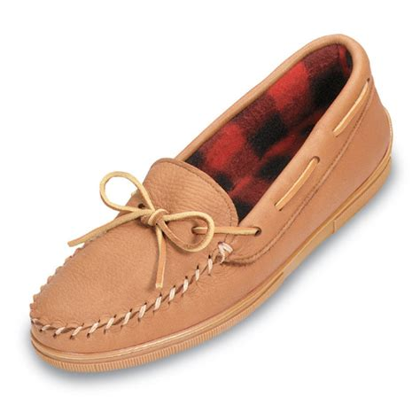 slippers made in usa minnetonka moccasin s moosehide fleece slipper s