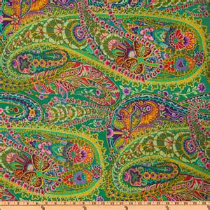 kaffe fassett paisley jungle discount designer fabric