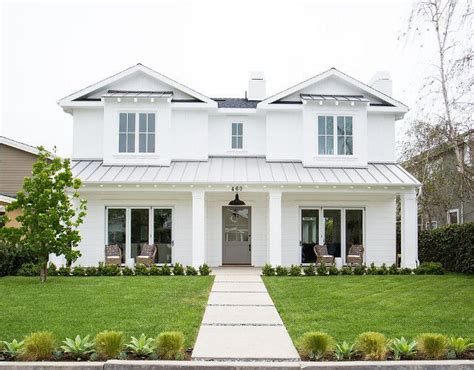 newport heights modern farmhouse gray front doors exterior paint colors and metal roof