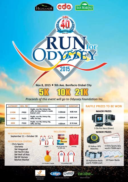 Foundation Odyssey by Run For Odyssey 2015 For The Benefit Of Malnourished