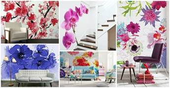 Floral Wall Mural abstract floral wall mural eazywallz thank you for
