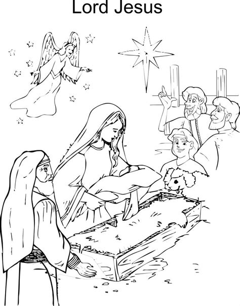 coloring pages of jesus birth jesus birth coloring page coloring home
