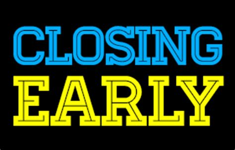 Closing Early Letter Early Closure At The Georgetown Library Brown County