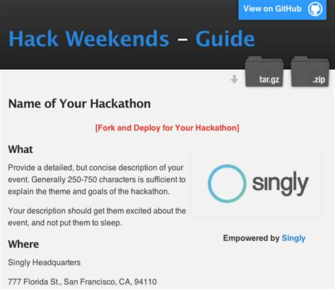 Hack Weekends Directory Hackathon Guide And Site Template Hackathon Website Template