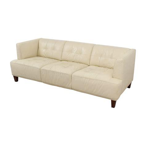 kaleb tufted leather sofa 45 chateau d ax chateau d ax kaleb beige tufted