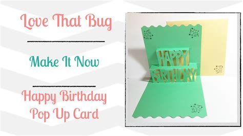 Cricut Pop Up Card Template by Cricut Explore Min Happy Birthday Pop Up Card My Crafts