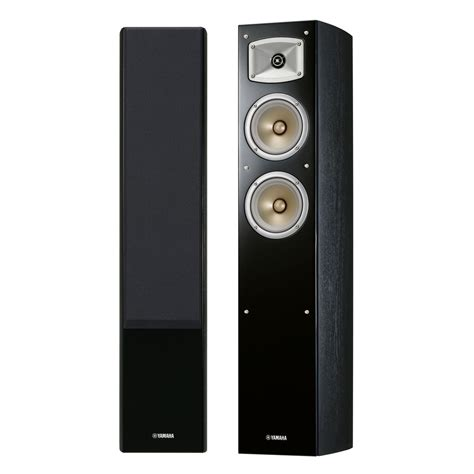 Yamaha Floor Standing Speakers disc yamaha nsf330 floor standing speakers black at