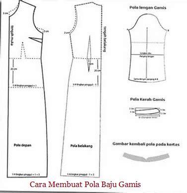 Cara Membuat Pola Baju Gamis Sederhana Untuk Pemula