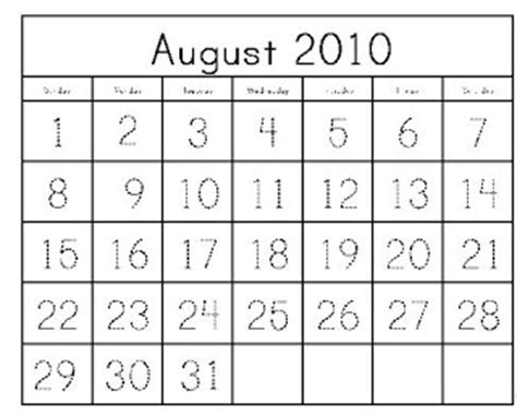 Calendar Template For Pages Or Numbers Homeschool Parent Calendar Templates With Number Tracing
