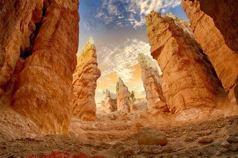 landscape photo  desert rock formation  stock photo