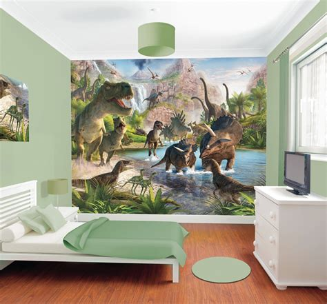 dinosaur wallpaper for bedroom dinosaur mural wall murals ireland