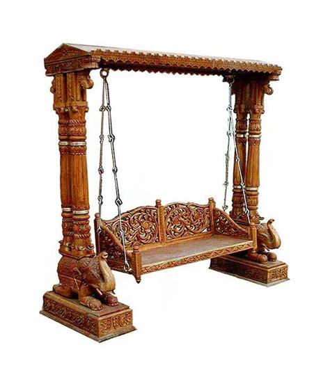 wooden swing online solid wood swing in brown buy solid wood swing in brown