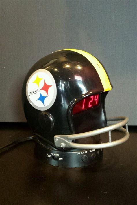 jam alarm helm helmet clock vintage pittsburgh steelers helmet alarm clock 1979