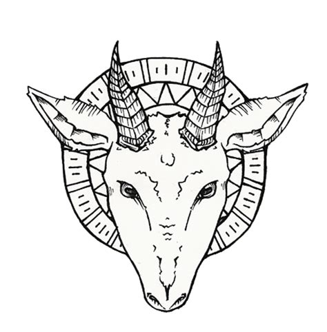 goat head tattoo drawing