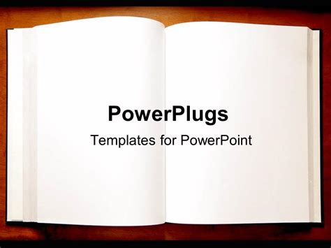 Powerpoint Template An Open Book With Blank Pages As A Metaphor On A Brown Background 10946 Powerpoint Book Template