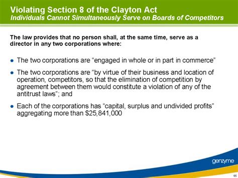 section 8 clayton act graphic