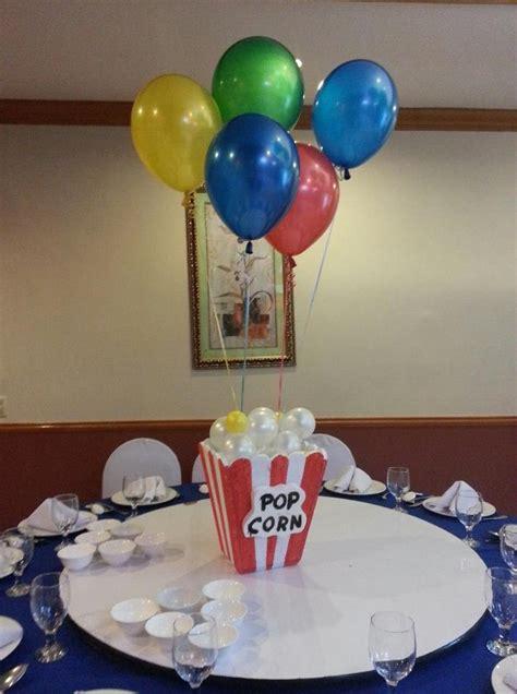 popcorn centerpiece zach s first birthday madagascar