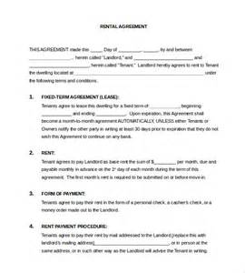 rental agreement template word doc lease template 18 free word excel pdf documents