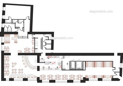 kitchen layout blocks prepossessing 80 restaurant kitchen plan dwg inspiration