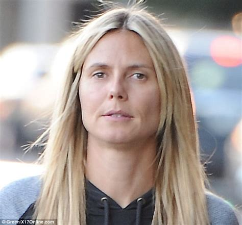Heidi Klum Needs Some Makeup by Who Needs Make Up When You Are A Supermodel Bare Faced