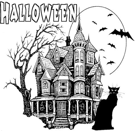 coloring pages haunted house halloween zallie coloring pages halloween coloring pages