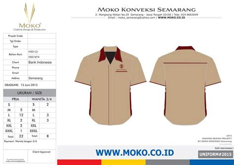 Kaos Net Tv Warna Merah pemesanan seragam kerja bank indonesia semarang jawa