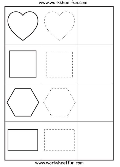shape tracing templates shape tracing 3 worksheets free printable worksheets