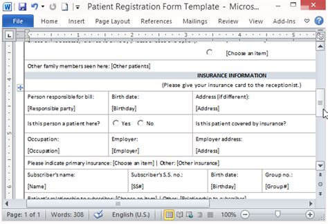 free patient information form template patient registration form template