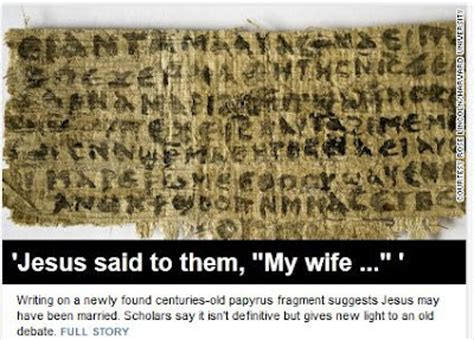 proof jesus was married found on ancient papyrus that no jesus wasn t married