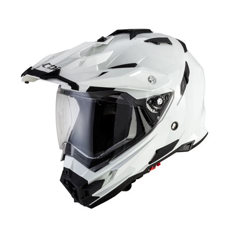 white motocross helmet alltop ap 8853 motocross helmet white glossy insportline