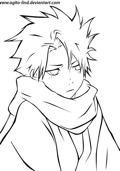 Bleach Hitsugaya Toushiro Line By Aagito On Deviantart Anime And Boy Coloring Pages Free