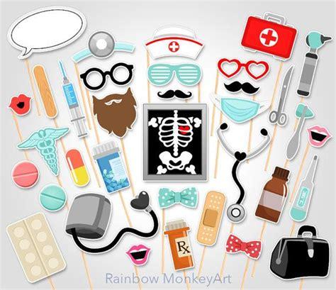printable nurse photo booth props doctor printable photo booth props nurse by