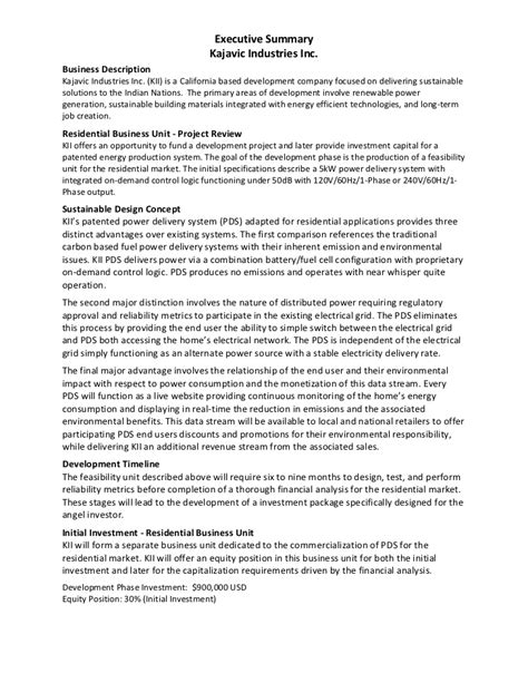 Doc.#12401754: Example Executive Summary For Proposal
