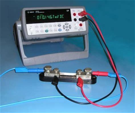resistor current measurement shunt resistors electronic measurements