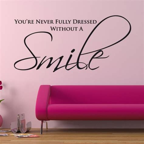 Wall Stickers Quotes Uk smile wall sticker quote wall chimp uk