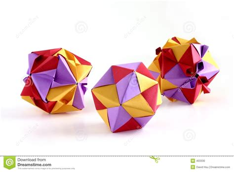 Origami Set For - three origami sets stock photo image 403330
