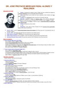 essay about the of dr jose rizal costa sol real