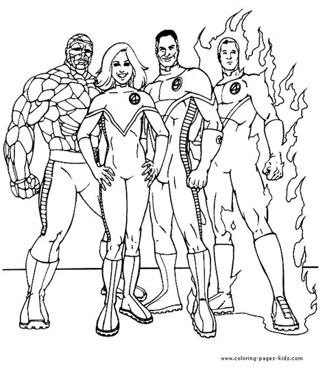 Fantastic 4 Coloring Pages fantastic four color page coloring pages for