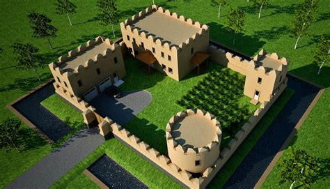Cost To Build A House In Michigan Earthbag Castle Earthbag House Plans