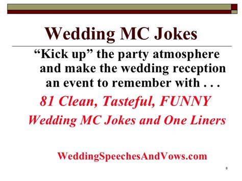 Wedding Anniversary Jokes One Liners by Wedding Mc Joke Collection