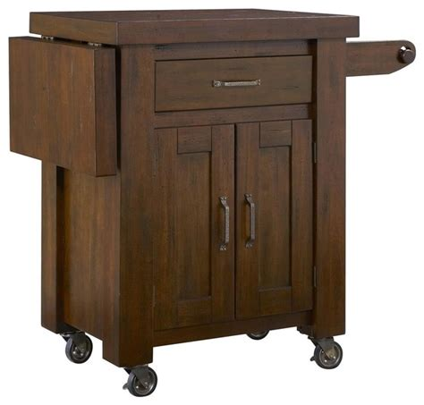 Kitchen Island Cart With Drop Leaf Kitchen Cart With Side Drop Leaf Traditional Kitchen Islands And Kitchen Carts