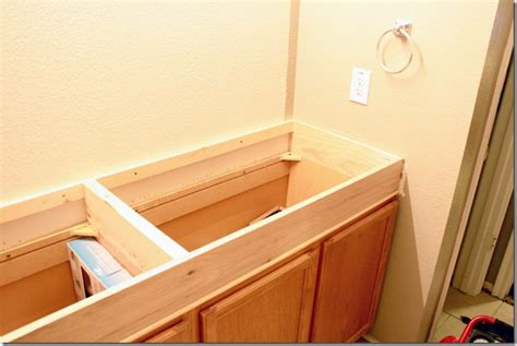 How To Raise A Bathroom Vanity Cabinet by Remodelaholic How To Raise Up A Vanity