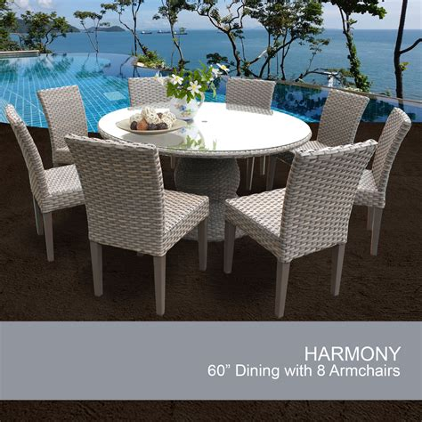 60 inch outdoor table 60 inch outdoor patio dining table with 8 chairs