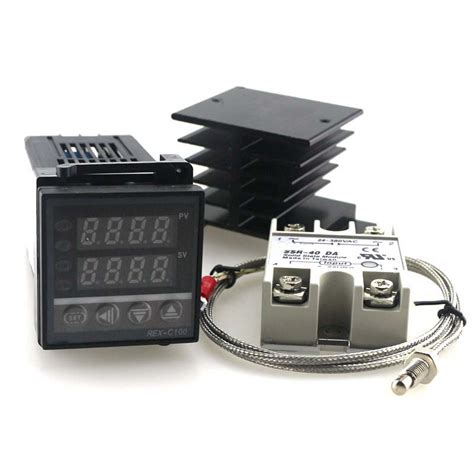 Ac Aux Ssr 1 M aliexpress buy dual pid temperature controller kit