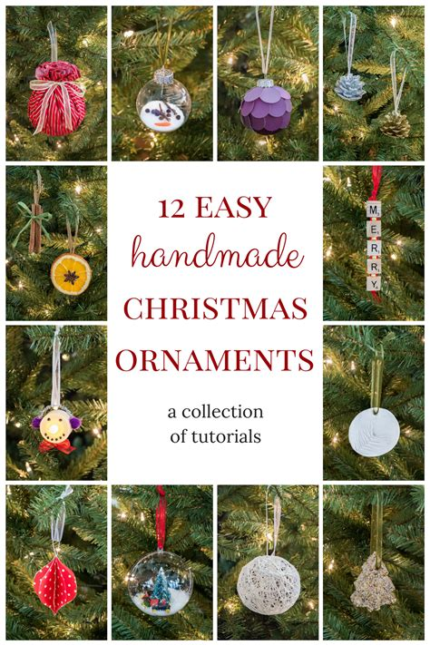 12 easy handmade christmas ornaments is now available