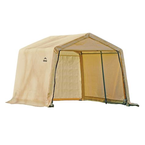 Storage Canopy Sheds by Shop Shelterlogic 10 10 Canopy Storage Shed At Lowes
