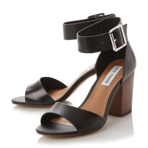 Two Block Heel Sandal - steve madden estoria two part block heel sandals in black