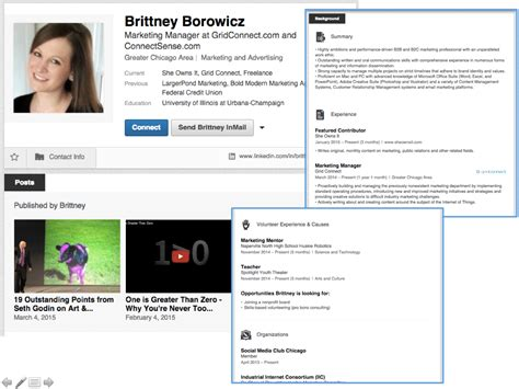 Profile Headline Exles In Linkedin How To Show Your Mba by Best Linkedin Profiles Of 2017 Resumewritinglab