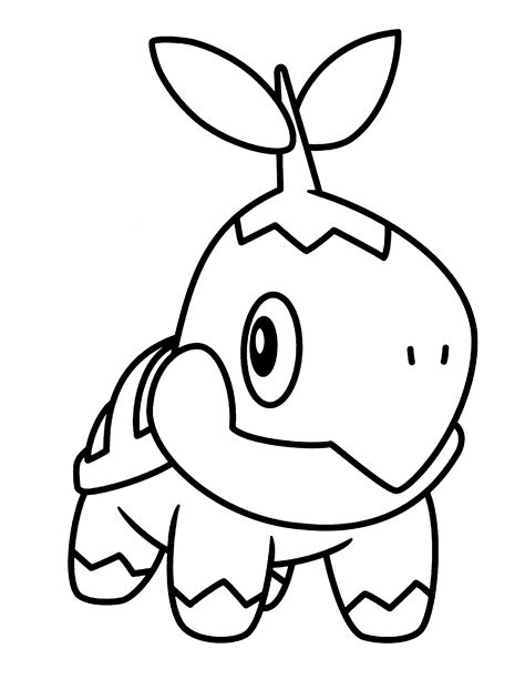 Pokemon Coloring Pages Turtwig | pokemon turtwig coloring pages coloring home