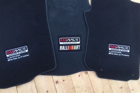mitsubishi lancer ralliart floor mats mlr lancer evolution ralliart floor mats mitsubishi